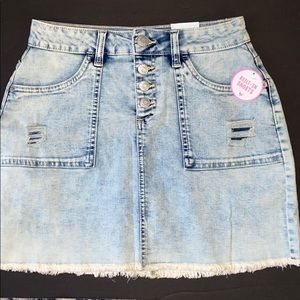 NWT JUSTICE denim - jean skirt w/built in shorts